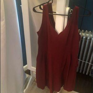 Maison Jules red dress with pockets medium